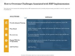 How To Overcome Challenges Associated With Erp Implementation Spot Ppt Powerpoint Presentation Topics