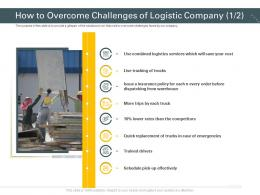 How To Overcome Challenges Of Logistic Company Trucks Trucking Company Ppt Tips