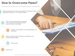 How To Overcome Flaws Ppt Powerpoint Presentation Layouts Graphic Images
