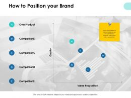 How To Position Your Brand Financial Ppt Powerpoint Presentation Pictures Aids
