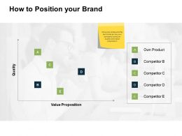 How To Position Your Brand Value Ppt Powerpoint Presentation Show Display