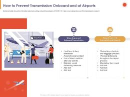 How To Prevent Transmission Onboard And At Airports Measure Ppt Powerpoint Presentation Graphics