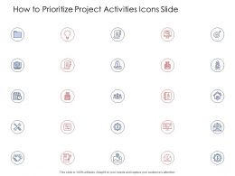 How To Prioritize Project Activities Icons Slide Ppt Powerpoint Presentation Show