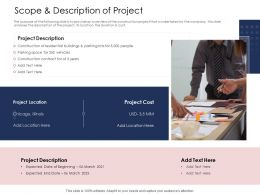 How To Prioritize Project Activities Scope And Description Of Project Location Cost Ppts Ideas