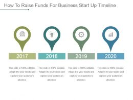 How To Raise Funds For Business Start Up Timeline Powerpoint Slide Deck Samples