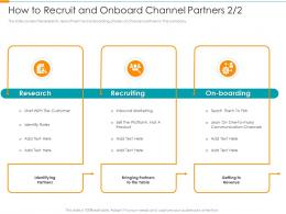 How To Recruit And Onboard Channel Partners Marketing Partner Relationship Management Prm Tool Ppt Grid