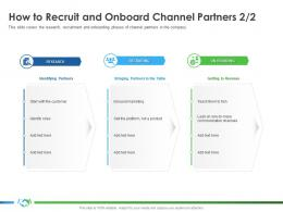How To Recruit And Onboard Channel Partners Product S39 Ppt Ideas Deck