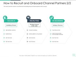 How To Recruit And Onboard Channel Partners Revenue Reseller Enablement Strategy Ppt Professional