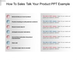 How To Sales Talk Your Product Ppt Example