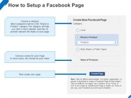 How To Setup A Facebook Page Ppt Powerpoint Presentation Layouts Examples