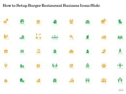 How To Setup Burger Restaurant Business Icons Slide Ppt Powerpoint Presentation Model Backgrounds