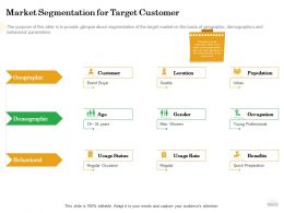 How To Setup Burger Restaurant Business Market Segmentation For Target Customer Ppt Powerpoint Tips