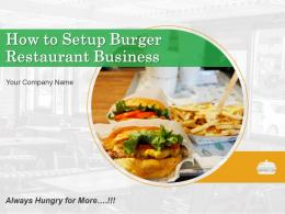 How To Setup Burger Restaurant Business Powerpoint Presentation Slides