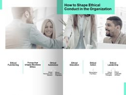 How To Shape Ethical Conduct In The Organization Teamwork Ppt Powerpoint Presentation Icon