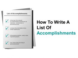 How To Write A List Of Accomplishments Example Of Ppt