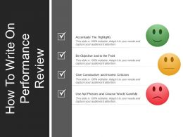 how_to_write_on_performance_review_good_ppt_example_Slide01