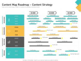 How Visually Map Content Strategy Brand Content Map Roadmap Content Strategy Ppt Styles Show