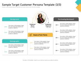 How Visually Map Content Strategy Brand Sample Target Customer Persona Template Pain Ppt Smartart