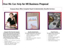 How We Can Help For HR Business Proposal Ppt Powerpoint Presentation Gallery