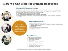 How We Can Help For Human Resources Ppt Powerpoint Presentation Layouts