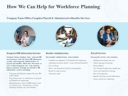 How We Can Help For Workforce Planning Ppt Powerpoint Presentation File