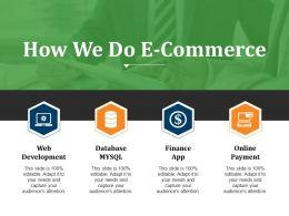 How We Do E Commerce Powerpoint Slide Deck