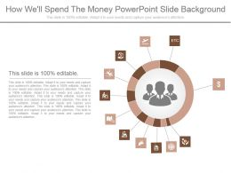 How Well Spend The Money Powerpoint Slide Background
