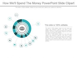 How Well Spend The Money Powerpoint Slide Clipart