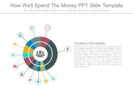 How Well Spend The Money Ppt Slide Template