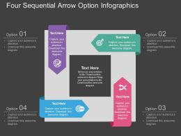 hp Four Sequential Arrow Option Infographics Flat Powerpoint Design