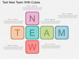 Hp Text New Team With Cubes Flat Powerpoint Design
