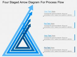 hq Four Staged Arrow Diagram For Process Flow Flat Powerpoint Design