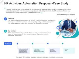 HR Activities Automation Proposal Case Study Ppt Powerpoint Presentation Infographic