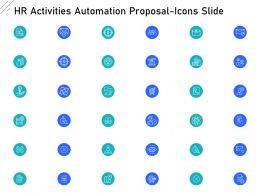 HR Activities Automation Proposal Icons Slide Ppt Powerpoint Model Background