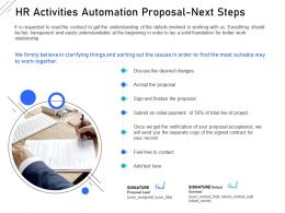 HR Activities Automation Proposal Next Steps Ppt Powerpoint Infographics Guidelines