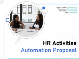 HR Activities Automation Proposal Powerpoint Presentation Slides