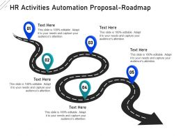 HR Activities Automation Proposal Roadmap Ppt Powerpoint Presentation Slides Icons