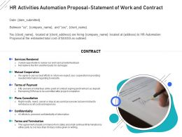 HR Activities Automation Proposal Statement Of Work And Contract Ppt Powerpoint Grid