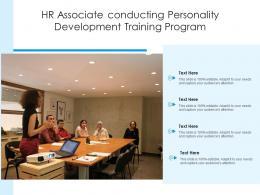 HR Associate Conducting Personality Development Training Program