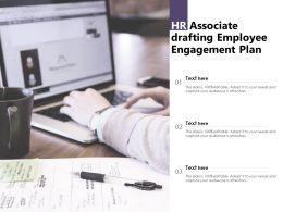 HR Associate Drafting Employee Engagement Plan