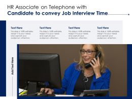 HR Associate On Telephone With Candidate To Convey Job Interview Time