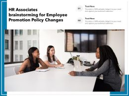HR Associates Brainstorming For Employee Promotion Policy Changes