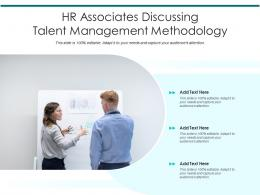 HR Associates Discussing Talent Management Methodology