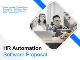 HR Automation Software Proposal Powerpoint Presentation Slides