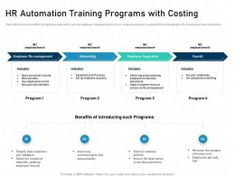 HR Automation Training Programs With Costing Human Error Ppt Slides