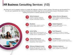 HR Business Consulting Services Ppt Powerpoint Presentation Icon Template
