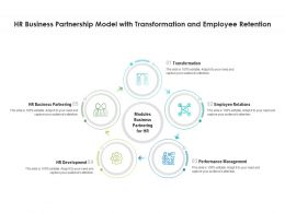 HR Business Partnership Model With Transformation And Employee Retention