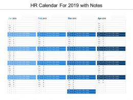 Hr Calendar For 2019 With Notes