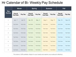 Hr Calendar Of Bi Weekly Pay Schedule