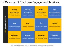 Hr Calendar Of Employee Engagement Activities